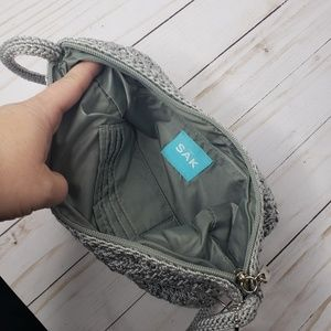The Sak Bags - The Sak Gray Silver Crocheted Mini Handbag